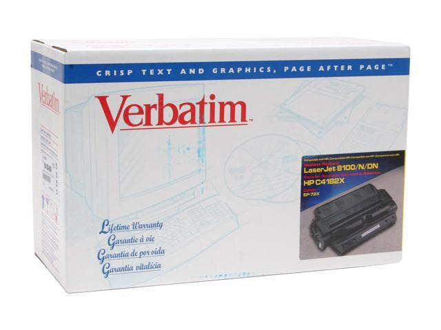 Verbatim 93874 Black HP C4182X Compatible EP-72X Toner Cartridge