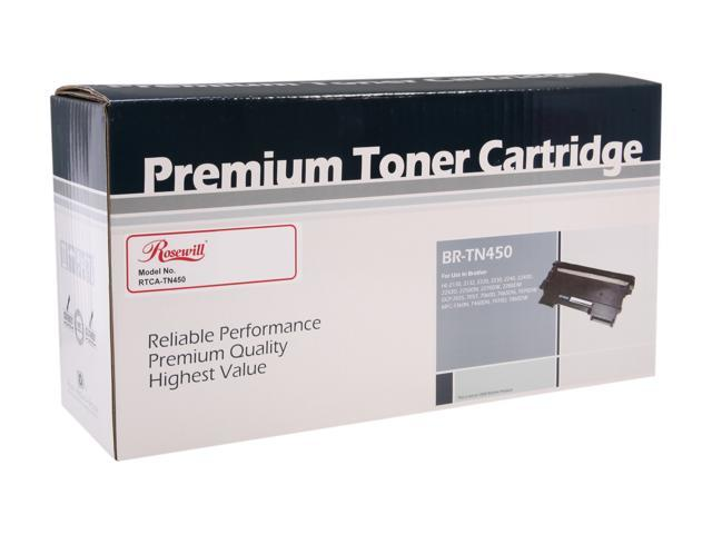 Rosewill RTCA-TN450 Premium Quality Toner Cartridge (Replaces OEM# Brother TN-450, TN-420) 2,600 Pages Yield; Black