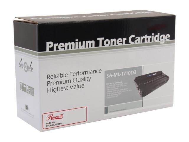 Rosewill RTCA-ML1710D3 Black Toner Cartridge replacement for Samsung ML1710D3, SCX4216D3