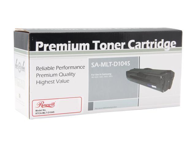 Rosewill RTCA-MLT-D104S (MLTD104S) Black Toner Replaces Samsung 104 MLT-D104S/XAA