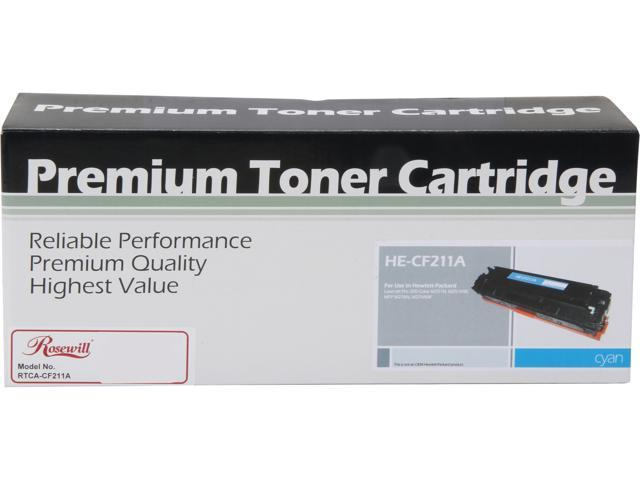 Rosewill RTCA-CF211A High Yield Universal Replacement Toner Cartridge for HP 131A CF211A, and Canon 131 (6272B001); Cyan