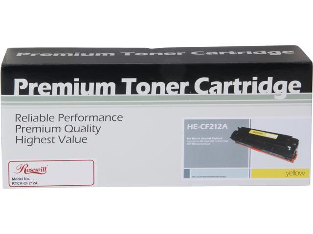Rosewill RTCA-CF212A High Yield Universal Replacement Toner Cartridge for HP 131A CF212A, and Canon 131 (6272B001); Yellow