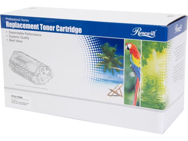 Rosewill RTCS-TN360 Toner Replaces Brother TN-360 TN360 TN-330 TN330 Cartridge Black