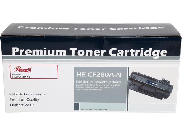 Rosewill RTCA-CF280A-C2 Compatible Toner Cartridge Replaces HP 80A CF280A; Black