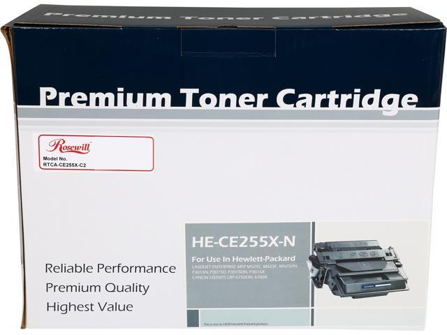 Rosewill RTCA-CE255X-C2 High Yield Compatible Toner Cartridge Replaces HP 55X CE255X 55A CE255A; Black