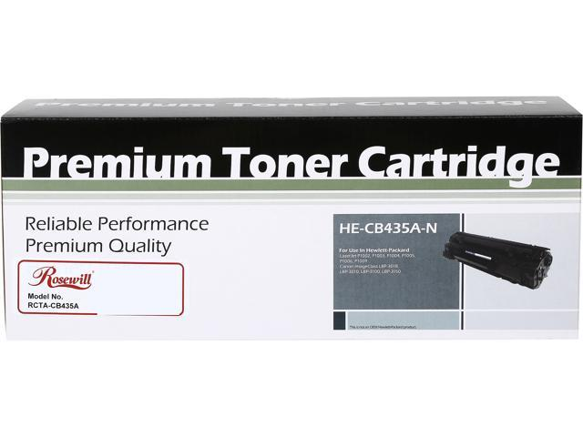 Rosewill RTCA-CB435A-C Black Toner Cartridge Replaces HP CB435A