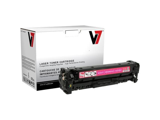 V7 Toner Cartridge - Remanufactured for HP (CC533A) - Magenta
