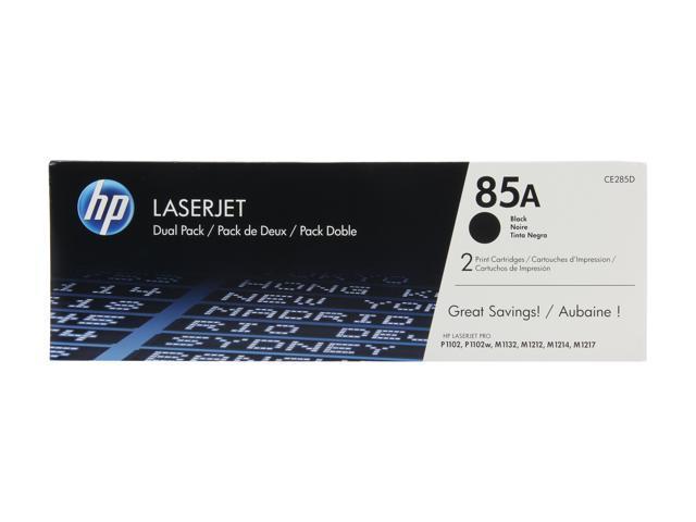 HP 85A Black Dual Pack LaserJet Toner Cartridges (CE285D)