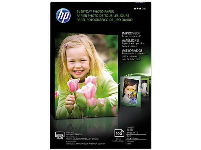 HP CR759A Everyday Glossy Photo Paper-100 sht/4 x 6 in