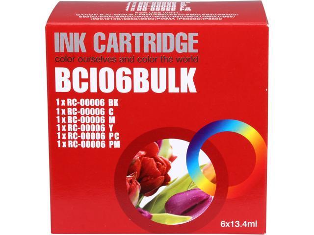 G&G RC-6 Combo 1 Black, 1 Cyan, 1 Magenta, 1 Yellow, 1 Photo Cyan, 1 Photo Magenta Ink Cartridge