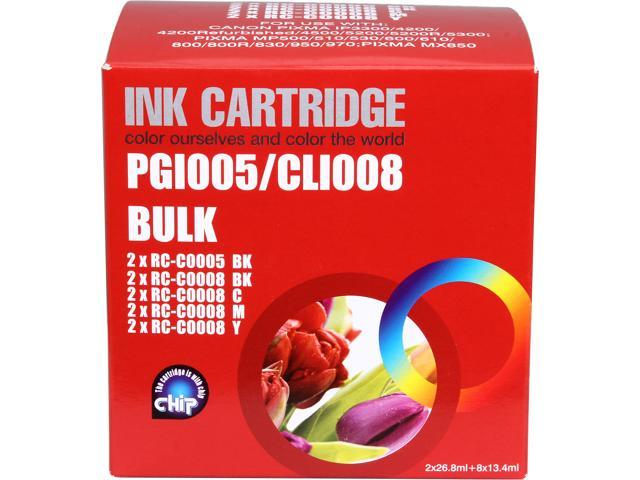 G&G Compatible Ink Cartridge Replacement for Canon PGI5Bk,CLI8BK,CLI8C,CLI8M,CLI8Y(4Black 2Cyan 2Magenta 2Yellow) 10 Pack