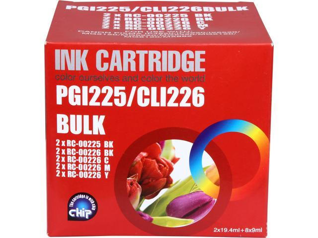 G&G Compatible Ink Cartridge Replacement for Canon PGI-225 & CLI-226 (2 Black PGI-225 & 2 Each of Black/Cyan/Magenta/Yellow CLI-226); 10-Pack