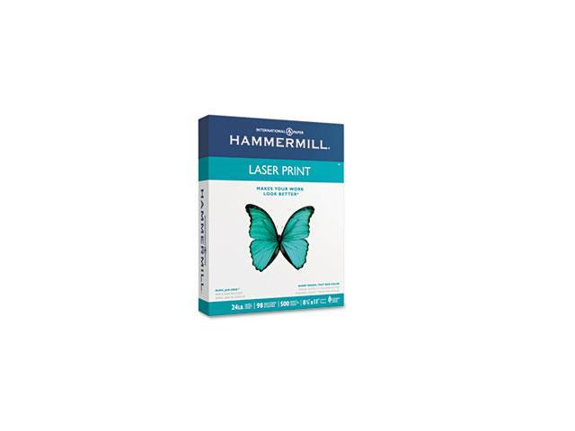 Hammermill 10460-4 Laser Print Office Paper, 98 Brightness, 24lb, 8-1/2 x 11, White, 500 Sheets/Rm