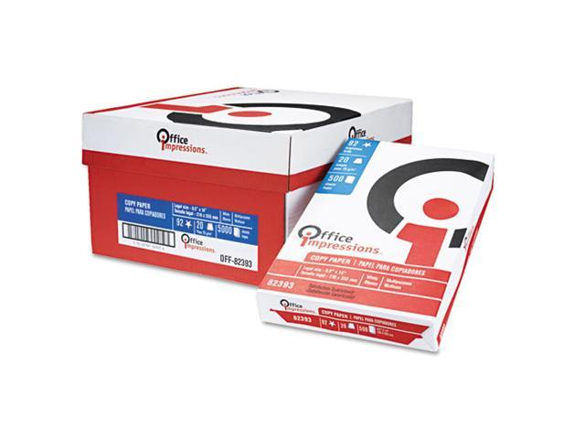 Office Impressions Bulk White Copy Paper, 92 Brightness, 20lb, Legal, 5000 Sheets