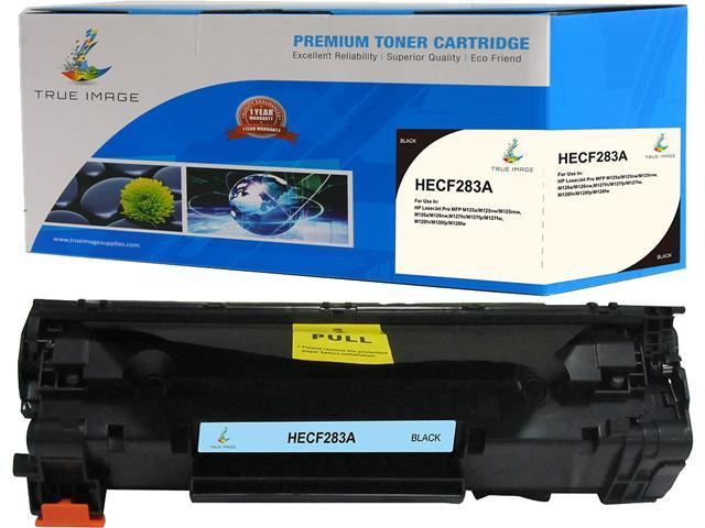 TRUE IMAGE HECF283A Black Toner Replaces HP 83A CF283A, Single Pack, Page Yield 1,600