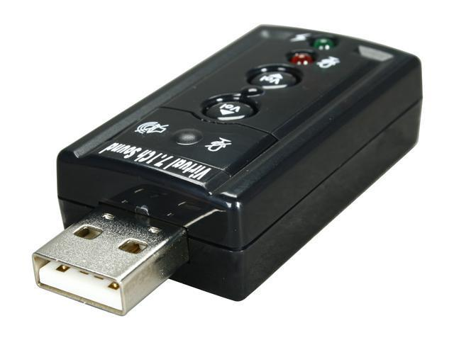 StarTech ICUSBAUDIO7 Virtual 7.1 Channels USB Interface Stereo Audio Adapter External Sound Card