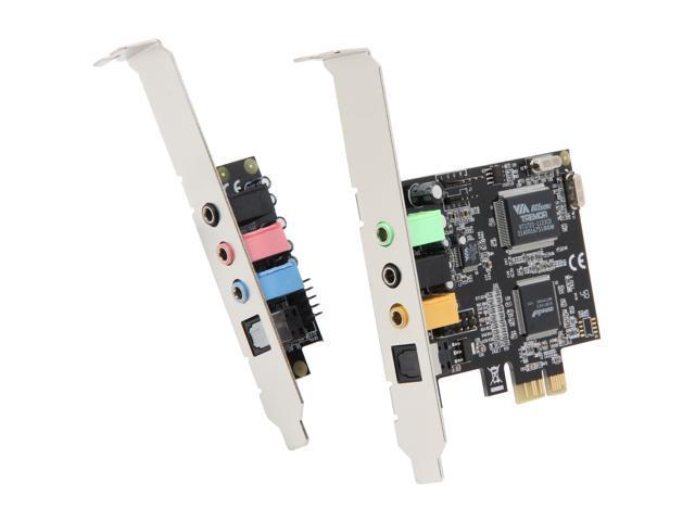 SYBA SD-PEX63034 7.1 Channels PCI Express x1 Interface Surround Sound Digital/Analog Audio Card