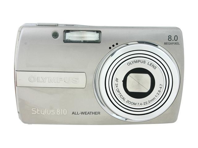OLYMPUS Stylus 810 Silver 8 MP 3X Optical Zoom Digital Camera
