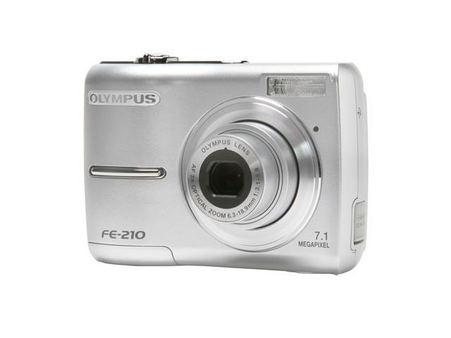 OLYMPUS FE-210 Silver 7.1 MP 3X Optical Zoom Digital Camera