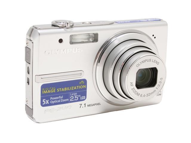 OLYMPUS FE-240 Silver 7.1 MP 5X Optical Zoom Digital Camera