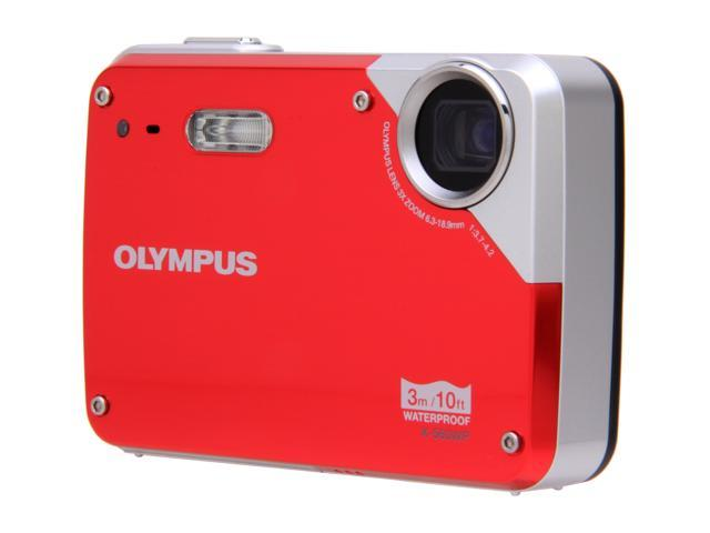 OLYMPUS X-560WP Red 10.0 MP Waterproof Digital Camera