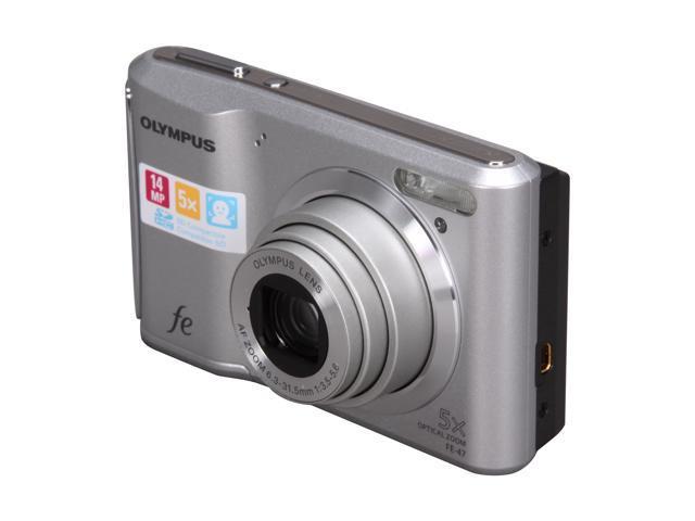 OLYMPUS FE-47 Silver 14 MP 5X Optical Zoom Digital Camera