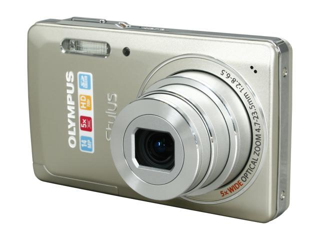 OLYMPUS Stylus 5010 Titanium 14 MP 5X Optical Zoom 26mm Wide Angle Digital Camera