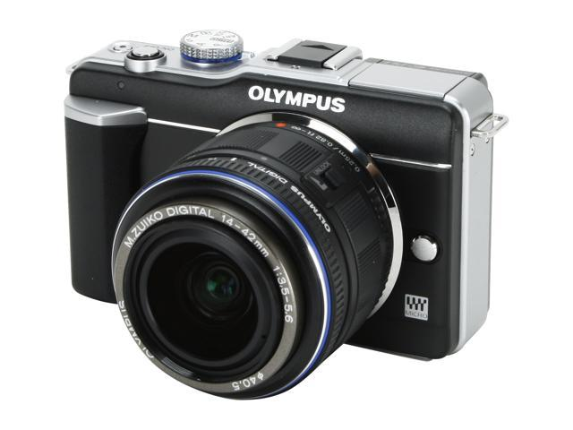 OLYMPUS PEN E-PL1 Black 12.3 MP 2.7