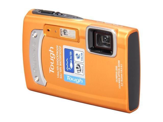 OLYMPUS TG-310 Orange 14 MP Waterproof Shockproof 28mm Wide Angle Digital Camera