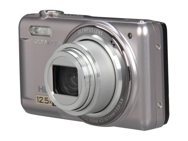 OLYMPUS VR-320 Silver 14 MP 24mm Wide Angle Digital Camera