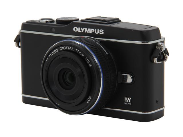 OLYMPUS PEN E-P3 (V204033BU000) Black Interchangeable Lens Type Live View Digital Camera w/17mm Lens