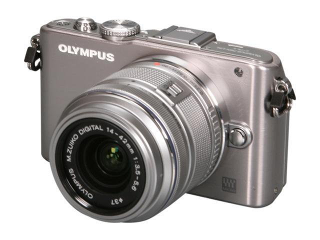 Olympus PEN E-PL3 Silver 12.3MP Digital Camera with 14-42mm Lens