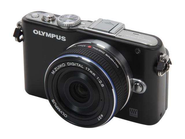 OLYMPUS PEN E-PL3 (V205033BU000) Black Interchangeable Lens Type Live View Digital Camera w/17mm Lens
