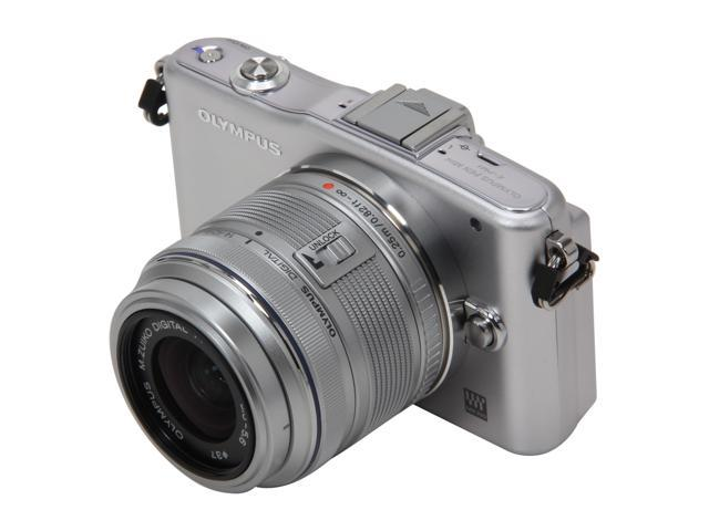 OLYMPUS PEN E-PM1 (V206011SU000) Silver Interchangeable Lens Type Live View Digital Camera w/14-42mm Lens