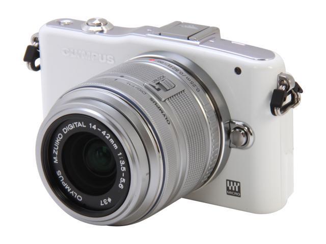OLYMPUS PEN E-PM1 (V206011WU000) White 12.3 MP 3.0