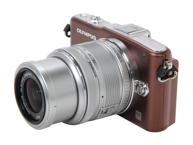 OLYMPUS PEN E-PM1 (V206011NU000) Brown Interchangeable Lens Type Live View Digital Camera w/14-42mm Lens