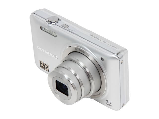 OLYMPUS VG-160 Silver 14 MP 26mm Wide Angle Digital Camera