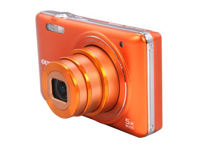 OLYMPUS VG-160 Orange 14 MP 26mm Wide Angle Digital Camera