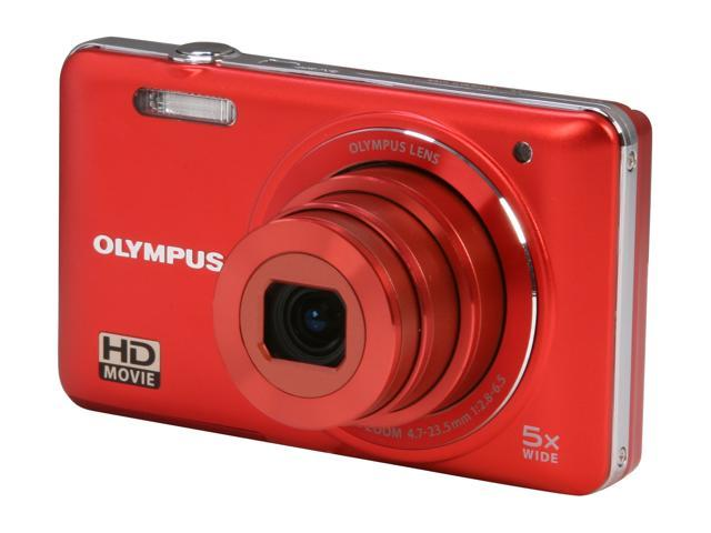 Olympus VG-160 Red 14 MP Digital Camera with HD video Recording