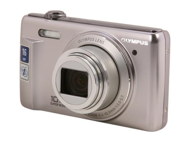 Olympus VR-340 Silver 16MP Digital Camera with 10x Optical Zoom