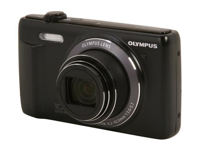 OLYMPUS VR-340 Black 16 MP 24mm Wide Angle Digital Camera