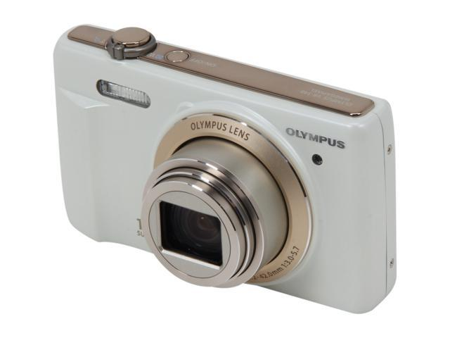 Olympus VR-340 White 16MP Digital Camera with 10x Optical Zoom