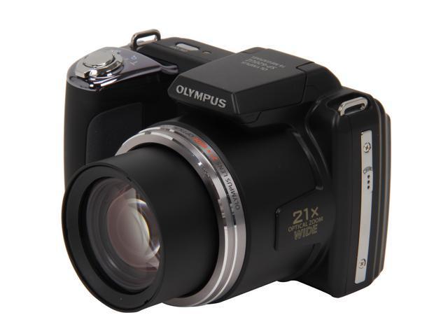 OLYMPUS SP-620UZ Black 16 MP 25mm Wide Angle Digital Camera HDTV Output