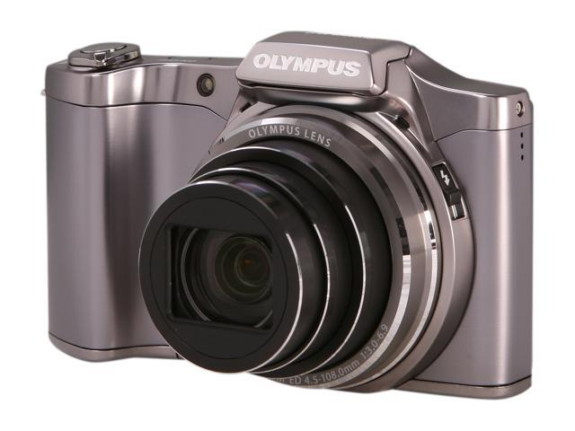 OLYMPUS SZ-12 Silver 14 MP 24X Optical Zoom 25mm Wide Angle Digital Camera HDTV Output