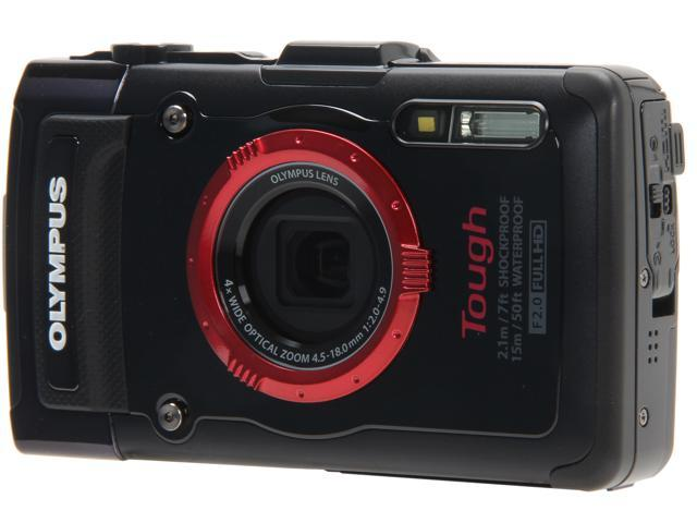 OLYMPUS TG-2 iHS Black 12 MP Waterproof Shockproof Wide Angle Digital Camera HDTV Output