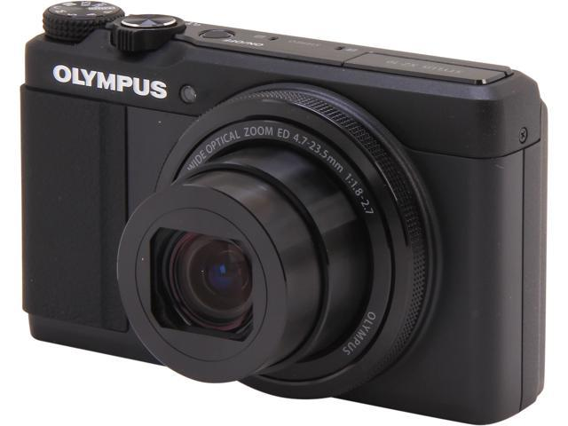OLYMPUS Stylus XZ-10 Black 12 MP 5X Optical Zoom Digital Camera HDTV Output