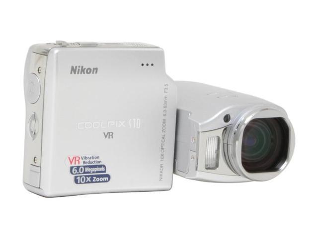 Nikon COOLPIX S10 Silver 6.0 MP 10X Optical Zoom Digital Camera