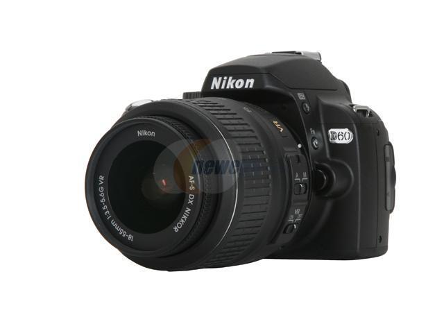 Nikon D60 Black 10.2 MP Digital SLR Camera w/ AF-S DX NIKKOR 18-55mm f/3.5-5.6G VR Lens