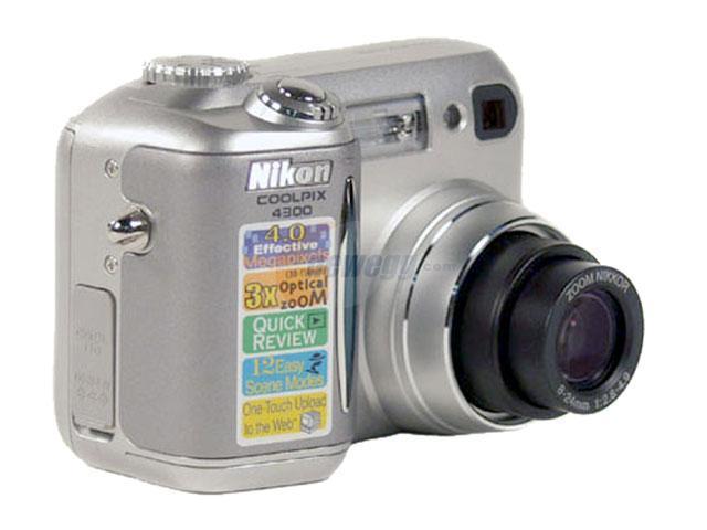 Nikon COOLPIX 4300 Silver 4.0 MP 3X Optical Zoom Digital Camera