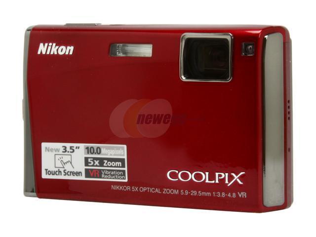nikon coolpix s60 crimson red 10 0 mp 5x optical zoom digital camera rh newegg com Pink Nikon Coolpix S60 Pink Nikon Coolpix S60